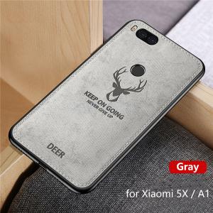 1 Hot Cloth Texture Deer 3D Soft TPU Magnetic Car Case For Xiaomi Mi 6 Mi6 Built