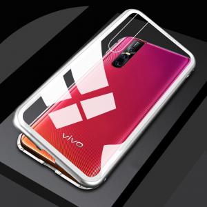 1 chyi magnetic case for vivo v15 pro case clear glass hard back cover luxury metal frame