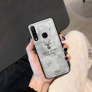 1 deer cloth texture phone case for vivo z5x v15 pro u1 iqoo neo v9 y85 luxury