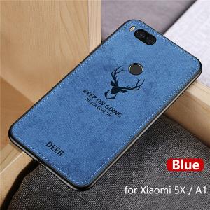 2 Hot Cloth Texture Deer 3D Soft TPU Magnetic Car Case For Xiaomi Mi 6 Mi6 Built