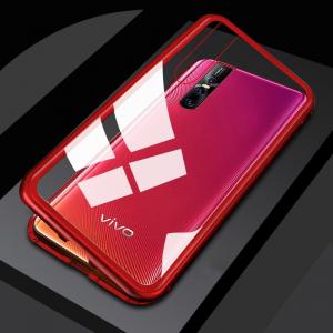 2 chyi magnetic case for vivo v15 pro case clear glass hard back cover luxury metal frame