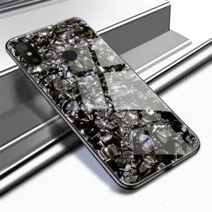Case Shell Marmer Glass Xiaomi Redmi Note 5 Pro Black