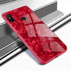 Case Shell Marmer Glass Xiaomi Redmi Note 5 Pro Red