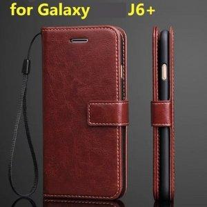 Flip Leather Wallet J6 Plus Head 1 1
