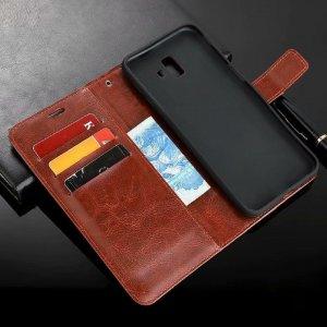 Flip Leather Wallet J6 Plus Head 3
