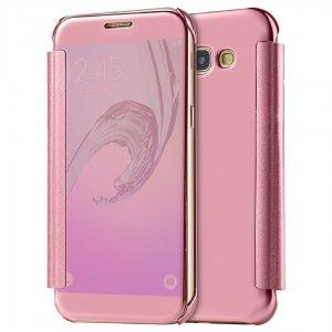 Flip Mirror Case Samsung A3 2017 Rosegold min
