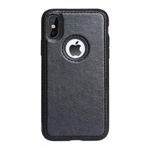 Luxury Premium Leather Case iPhone XS Max Black