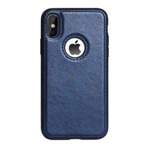 Luxury Premium Leather Case iPhone XS Max Blue