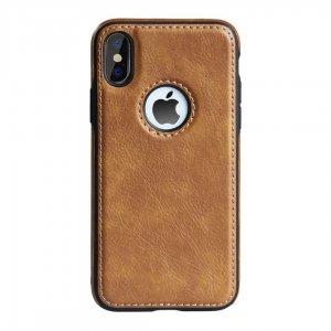 Luxury Premium Leather Case iPhone XS Max Coklat
