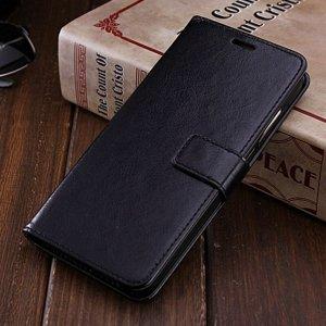 Xiaomi Redmi Note 5 Pro Flip Wallet Leather Cover Case Black