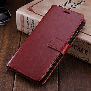 Xiaomi Redmi Note 5 Pro Flip Wallet Leather Cover Case Brown