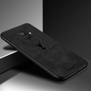 0 Deer Cloth Texture Phone Case For Samsung Galaxy A8 A6 J4 J6 Plus 2018 J5 J7