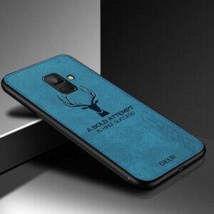 1 Deer Cloth Texture Phone Case For Samsung Galaxy A8 A6 J4 J6 Plus 2018 J5 J7