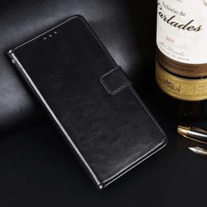 Vivo V11 Flip Leather Wallet Cover Black