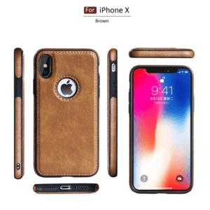1 Tikitaka Retro Leather Case For iPhoneX XS 6s 7 8 Plus Anti knock Back Cover Soft
