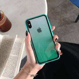 2 Luxury Transparent Gradient Phone Case For iPhone 11 Pro Max 8 7 6 6s Plus X