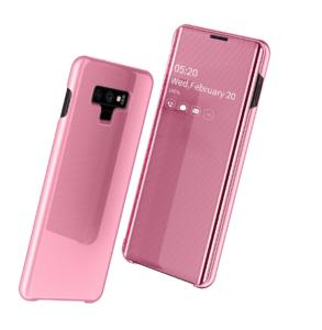 3 Fashion Clear View Mirror Flip Leather Case For Samsung S7 S8 plus S9 plus S10 plus