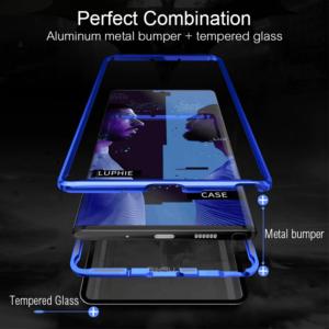 3 Luxury Aluminum Metal Bumper Magnetic Case On For Samsung Galaxy Note 10 Plus S10 Plus s10e