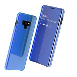 4 Fashion Clear View Mirror Flip Leather Case For Samsung S7 S8 plus S9 plus S10 plus