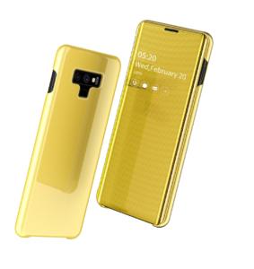 5 Fashion Clear View Mirror Flip Leather Case For Samsung S7 S8 plus S9 plus S10 plus
