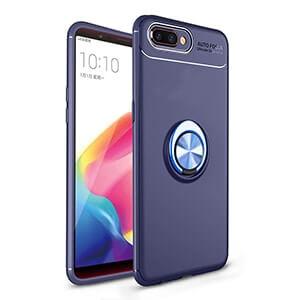5 OPPO A5S Case For OPPO AX5S Metal Finger Ring Holder Soft TPU Case For OPPO Realme