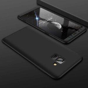 Case Full Cover Matte Hard Case Samsung A8 A8 Plus BLACK min
