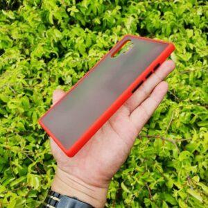 Case Samsung Note 10 Plus Casing Hybrid Softcase Transparan Matte Merah 2 min
