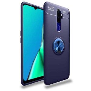 For Oppo A9 2020 Cases 360 Degree Ring Finger Holder BLUE