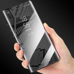 Mirror View Smart Flip Case For Samsung Galaxy A6 A7 A8 A9 2018 J4 J6 S8 4