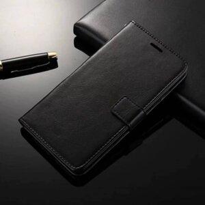 Samsung C9 Pro A9 Pro Flip Wallet Leather Cover Case Black