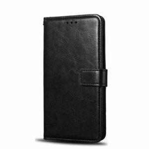Samsung Galaxy J7 Prime Flip Wallet Leather Cover Case Black