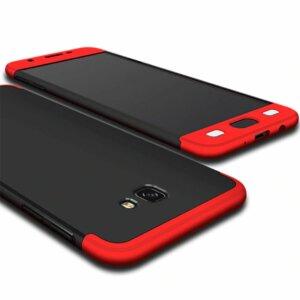Samsung Galaxy J7 Prime Hardcase 360 Protection Black Red 1