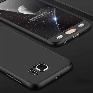 Samsung S6 Edge S6 Edge Plus Hardcase 360 Protection Black