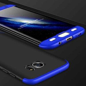 Samsung S6 Edge S6 Edge Plus Hardcase 360 Protection Black Blue