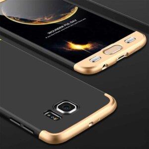 Samsung S6 Edge S6 Edge Plus Hardcase 360 Protection Black Gold