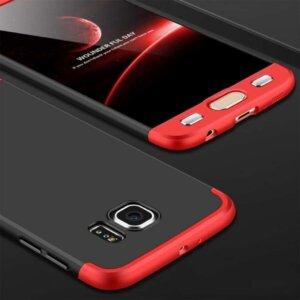 Samsung S6 Edge S6 Edge Plus Hardcase 360 Protection Black Red