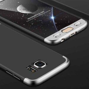 Samsung S6 Edge S6 Edge Plus Hardcase 360 Protection Black Silver 1