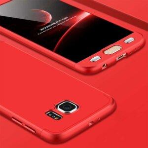 Samsung S6 Edge S6 Edge Plus Hardcase 360 Protection Red