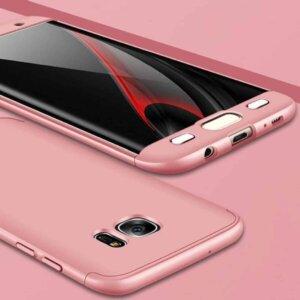 Samsung S6 Edge S6 Edge Plus Hardcase 360 Protection Rose Gold