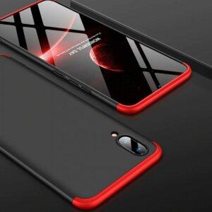 VIVO V11 V11 Pro Hardcase 360 Protection Black Red 4
