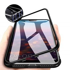 oppo f7 magnetic case hitam