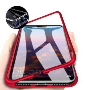 oppo f7 magnetic case merah 1