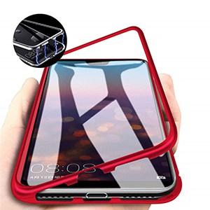 oppo f7 magnetic case merah