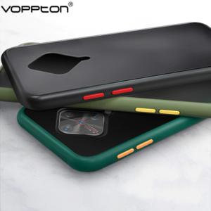 0 For VIVO V17 Phone Case Frosted Translucent Silicone Frame Hard Clear Back Cover For VIVO V17