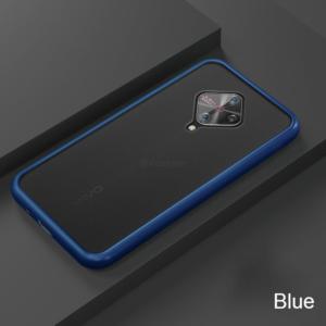 1 For VIVO V17 Phone Case Frosted Translucent Silicone Frame Hard Clear Back Cover For VIVO V17
