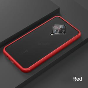 3 For VIVO V17 Phone Case Frosted Translucent Silicone Frame Hard Clear Back Cover For VIVO V17