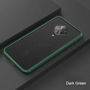 5 For VIVO V17 Phone Case Frosted Translucent Silicone Frame Hard Clear Back Cover For VIVO V17