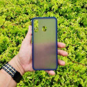 Case Samsung A30 Casing Hybrid Softcase Hardcase Transparan Matte Biru min