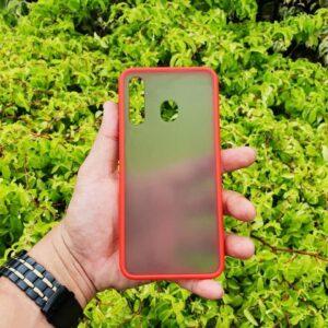 Case Samsung A30 Casing Hybrid Softcase Hardcase Transparan Matte Merah min