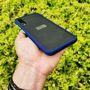 Case Samsung A30s Casing Hybrid Softcase Hardcase Transparan Matte Biru min
